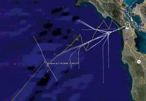 Ship Tracks via AIS